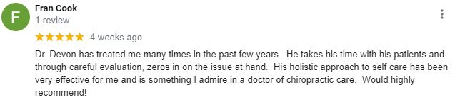 Chiropractic East Greenwich RI Patient Testimonial